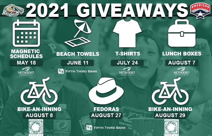 2021 Promotional Schedule: Giveaways