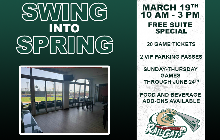 RailCats announce second annual Swing into Spring suite sale